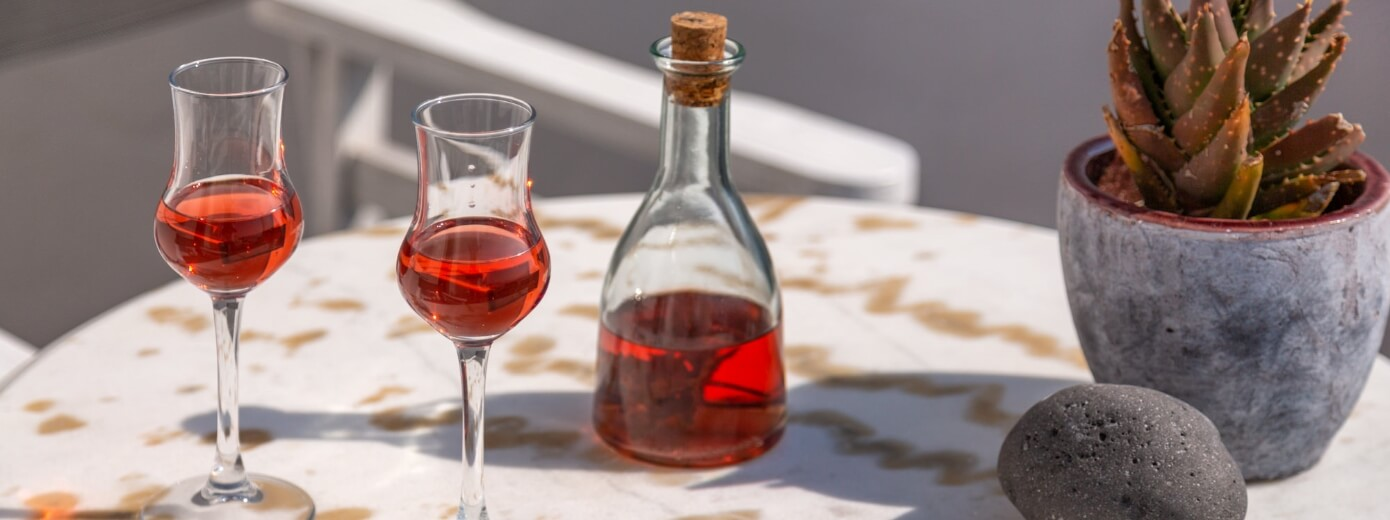 Wine tasting reservation offered for the guests of the luxury apartments of Nostos Apartments in Oia Santorini